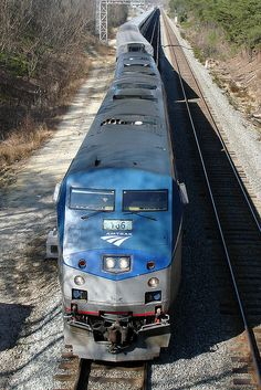 Another Amtrak train on its way to somewhere special.