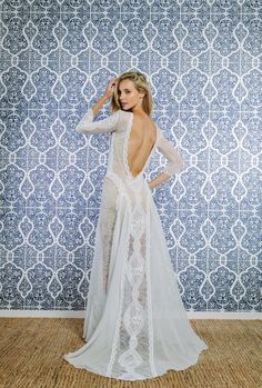 Lace wedding dress. The stunning INCA dress by Grace Loves Lace. Purchase through our website www.graceloveslace.com.au