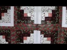 How to Quilt - Log Cabin Star Quilt Pattern Video