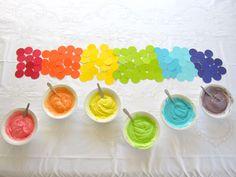 rainbow cakes, easi rainbow