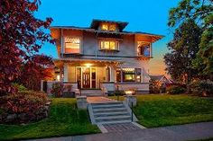 Quintessential 1906 Craftsman, character intact, on one of most desirable N Cap Hill blocks exudes turn of century charm. No detail is missed: stately entry welcomes w/orig. wainscoting & built-in seating. Living, dining & parlor rooms w/crown molding, inlaid wood flrs, French drs. Gourmet kitchen w/ granite counters, eating bar, cherry cabinets & adjoining family room. Rec. rm w/wetbar & 780+ bottle wine cellar. Encl. yard & deck = amazing entertainment space. Skyline, water & mtn views