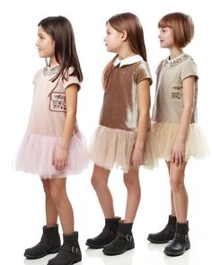 Fendi fall/winter 2013 sweet holiday party dresses for girls