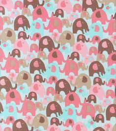 Nursery Fabric- Elephant Splash Packed Elephants Dusty & nursery fabric at Joann.com
