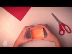 ▶ Como fazer uma caixinha organizadora de papel - Origami - YouTube
