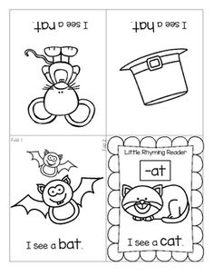***FREE*** This is a set of 11 Little Rhyming Readers foldable booklets. Each???