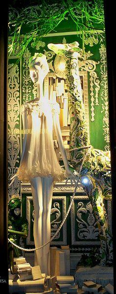 A Bergdorf Goodman Christmas window display