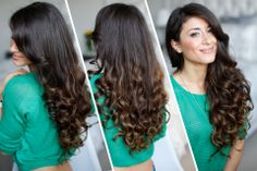 Have you tried to curl your hair without using heat? Step-by-step how-to video for heatless curls! #hair #curls #luxyhair