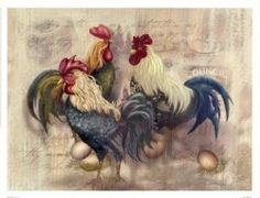 country french roosters