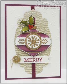 Christmas Bauble, Cheerful Tags, Color Me Autumn DSP, Blendabilities, Stampin' Up!, #stampinup, Connie Babbert, www.inkspiredtreasures.com