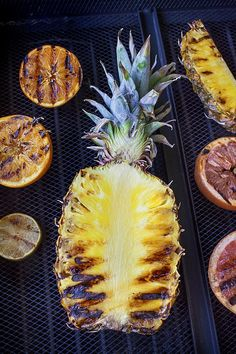 Grilled fruit for a cocktail
