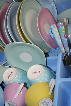 dishes in pastel by katisworld, via Flickr