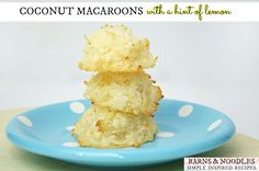 Coconut Macaroons – hint of lemon @Stacy and Noodles | Aimee