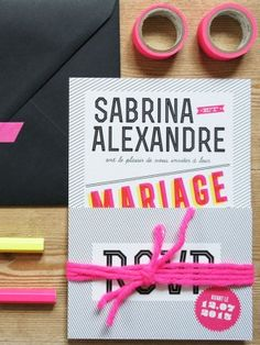 Modern and Graphic Wedding Invitation
