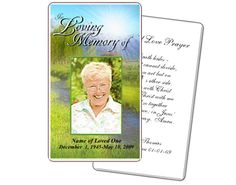 Tranquil Outdoor Large Prayer Card Templates