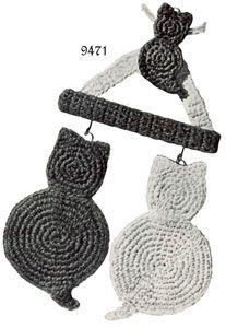 Cat Potholder free crochet pattern