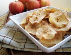 Homemade Apple Chips! I added cinnamon to mine and they were delicious!