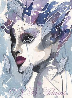 Watercolor portraits by Viktorija Bowers-Adams