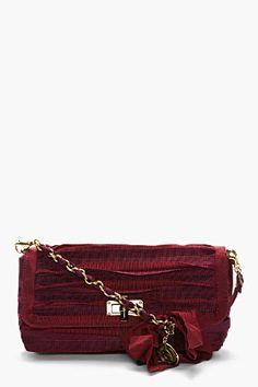 LANVIN Maroon Red Happy Pouch Shoulder Bag