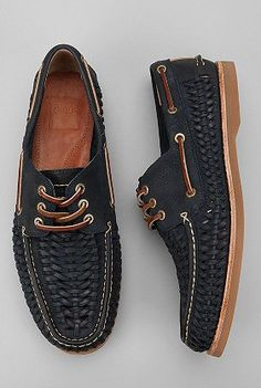 Nice navy boat shoes