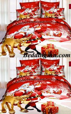 Christmas Santa Claus 3D 4-Piece Bedding Sets  Buy link->http://goo.gl/qD3SR8 Live a better life, start with @beddinginn http://www.beddinginn.com/product/Hot-Selling-Christmas-Santa-Claus-3D-4-Piece-Bedding-Sets-10974272.html