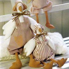 Куклы Тильда. Гусь. Выкройка
