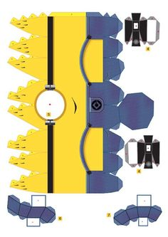 Minions 3D para imprimir gratis. minions, 3d paper, templat, parties, papers, paper crafts, printabl, paper toys, kid
