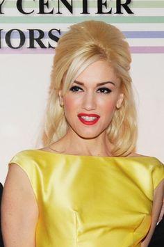 Gwen Stefanis retro, blonde hairstyle
