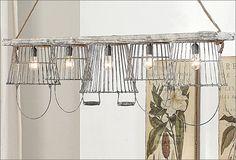 love metal basket lamps