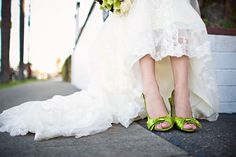 Lime green wedding shoes green shoes, wedding dressses, idea, wedding shoes, color, bridesmaid shoes, lime green, bridal shoes, green weddings