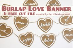 Burlap Love Banner &