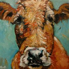 I love cow paintings
