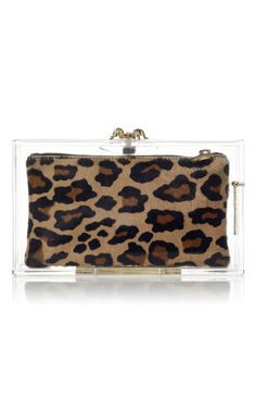 Pandora Clutch, now in leopard! #Charlotte Olympia