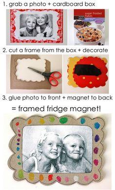 framed fridge magnet