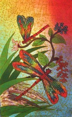 Indonesian Batiks, dragonflies