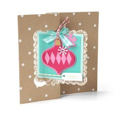 Sizzix Triplit Dies from Stephanie Barnard - Scrapbook.com - Give your homemade holiday cards a professional touch with ease!
