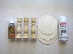 Ellison Reed DIY Cupcake Stand Supplies