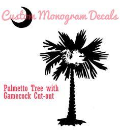 Gamecock palmetto tree tattoos diy pinterest for Palmetto tree and moon tattoo