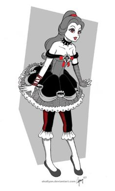 gothic disney princesses | Gothic Princess Belle by skullyan - Disney princesses gone goth!