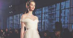 Brides: Wedding Dress Trend: Off-the-Shoulder Neckline
