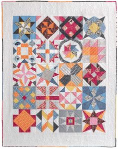 Freshly Pieced Modern Quilts: Meet the Vintage Quilt Revival Quilts: My Sampler Quilt vintage quilts, vintag quilt, machin quilt, quilt reviv, sampler quilts, machine quilting, modern quilt