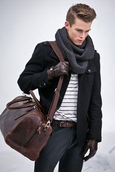 Winter. fashion clothes, fashion styles, men style, bag, outfit, men fashion, winter fashion, glove, style fashion