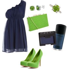 Navy & Lime