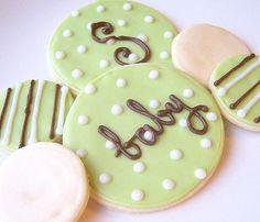Sugar Cookies Iced Custom Baby Shower Cookie by SugarMeDesserterie, $16.95