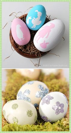 Decorated #Easter #eggs from LG Blog