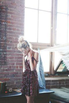 Bun and dress