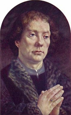 Mabuse: (ca. 1478-1532) 1e deel Carondelet-tweeluik (1517) Olie op paneel 43 x 27 cm - Het Louvre