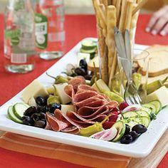40 Party Appetizer Recipes | Lemon-Basil Antipasto | SouthernLiving.com