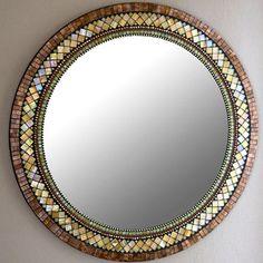 elegant mosaic mirror