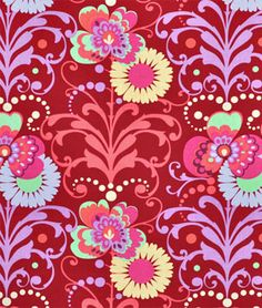 I need some more Amy in my life!  Amy Butler Paradise Garden Wine Fabric - $8.95 | onlinefabricstore.net
