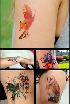 watercolor tattoos - I really want one